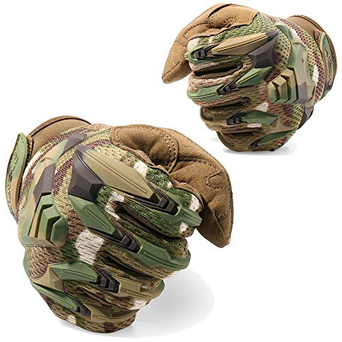 WTACTFUL Airsoft Glove 4 WTACTFUL Rubber Guard Protective Full Finger Tactical Gloves for Airsoft Hunting Cycling Motorbike