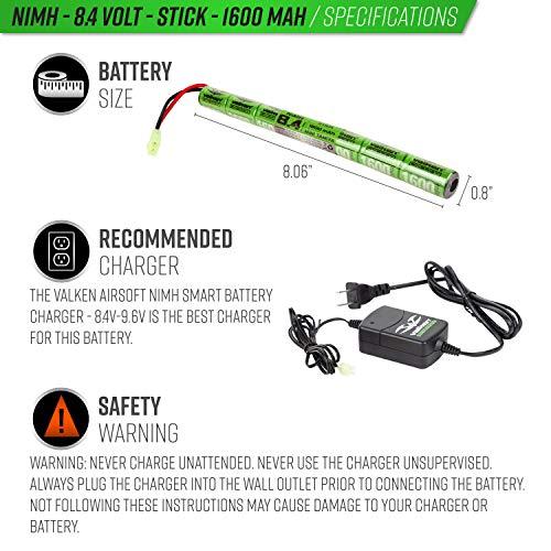 Valken Airsoft Battery 3 Valken Airsoft Battery - NiMH 8.4v 1600mAh Mini Stick Style