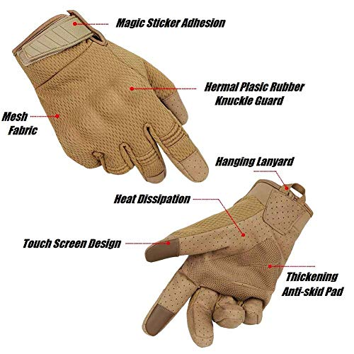 Mesh Breathable Waterproof Windproof Outdoor Gloves with Flexible Touch Screen Hard Knuckle Protect for Cycling Motorcycle Climbing Gardening Hunting Gear