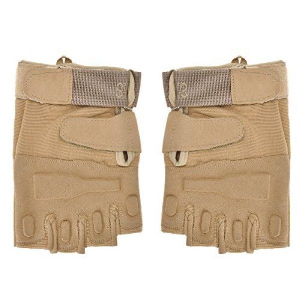 ZLYC Airsoft Glove 1 ZLYC Men's Fitness Gloves Wrist Wrap Support Half Finger Tactical Gym Glove