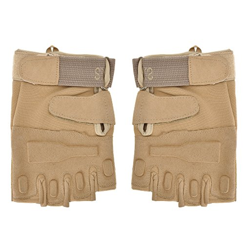 ZLYC Airsoft Glove 1 ZLYC Men's Fitness Gloves Wrist Wrap Support Half Finger Tactical Gym Glove