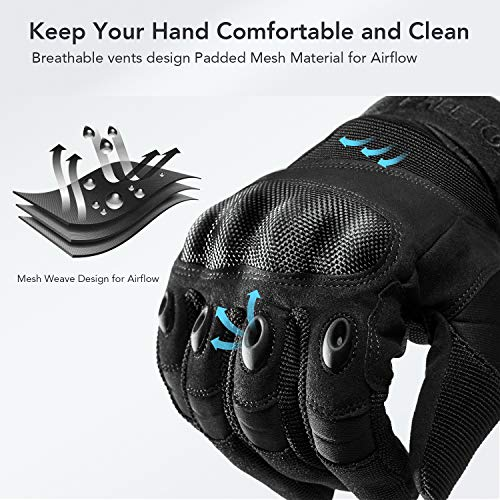 FREETOO Airsoft Glove 4 FREETOO Knuckle Tactical Gloves for Men Military Gloves for Shooting Airsoft Paintball Motorcycle Climbing and Heavy Duty Work
