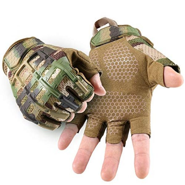 YOSUNPING Airsoft Glove 1 YOSUNPING Tactical Rubber Knuckle Fingerless Gloves Protection for Airsoft Paintball Riding Motorcycle Work