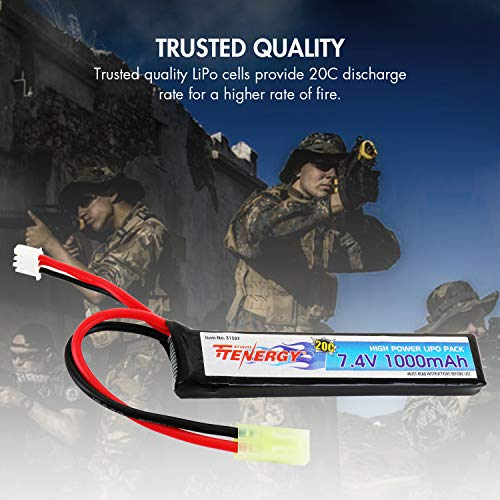 High Discharge Rate 20C Rechargeable Hobby Battery Pack with Mini Tamiya Connector for Airsoft Guns M4