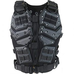 ActionUnion Airsoft Tactical Vest 1 ActionUnion Airsoft Tactical Vest Military Costume Molle Chest Protectors Gilet Paintball Vest CS Field Outdoor Modular Combat Training Adults Men Special Forces Adjustable EVA