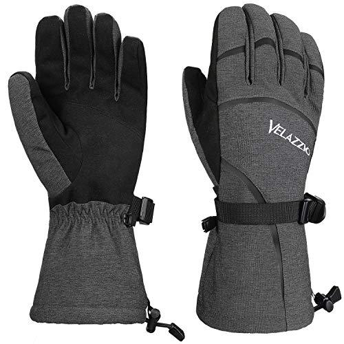 VELAZZIO Airsoft Glove 1 VELAZZIO Ski Gloves - Waterproof Breathable Winter Gloves