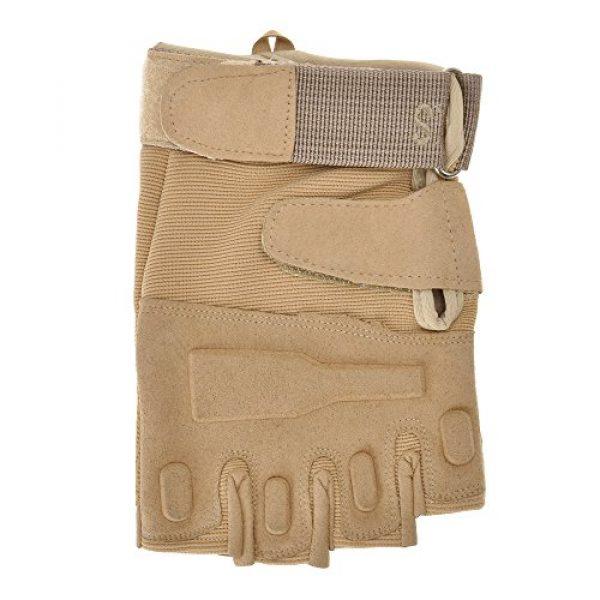 ZLYC Airsoft Glove 2 ZLYC Men's Fitness Gloves Wrist Wrap Support Half Finger Tactical Gym Glove
