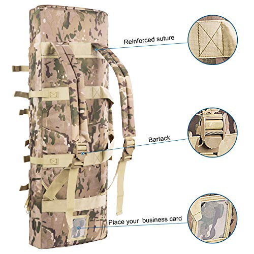 Fox Tactical  2 Fox Tactical 38 42 Inch Double Long Rifle Gun Case Bag Outdoor Tactical Carbine Cases Water Dust Resistant Fireproof for Hunting Shooting (Multicam