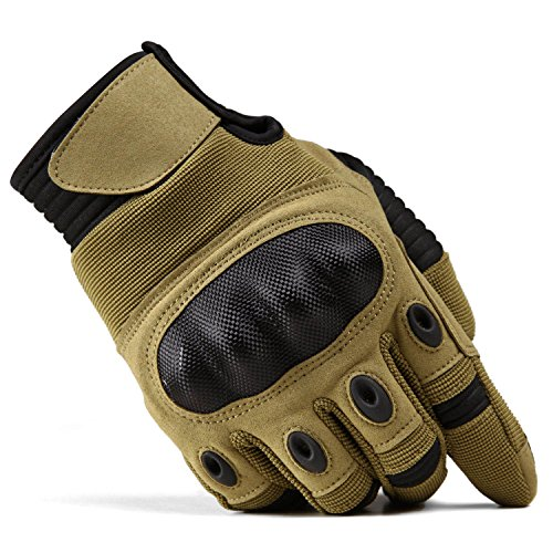 TACVASEN Airsoft Glove 2 TACVASEN Men's Full Finger Gloves for Motorcycle Cycling Camping Hiking Climbing Operating Work Sports