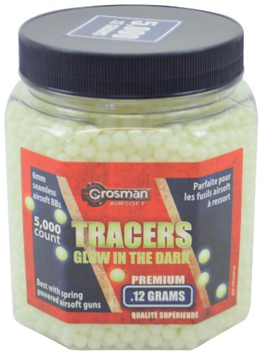 Crosman Airsoft BB 1 Crosman Glow-in-The-Dark Airsoft BBS (5000 .12G 6mm BBS)