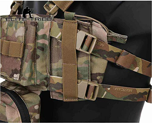 Elite Tribe Airsoft Tactical Vest 7 Elite Tribe MK3 Modular Lightweight Chest Rig Micro Fight Chissis 5.56 Mag Pouch
