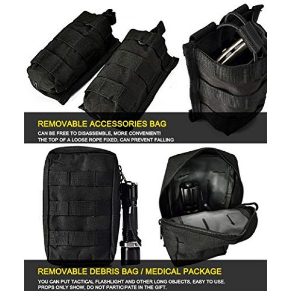 vAv YAKEDA Airsoft Tactical Vest 6 vAv YAKEDA Tactical Vest Military Chest Rig Airsoft Swat Vest for Men