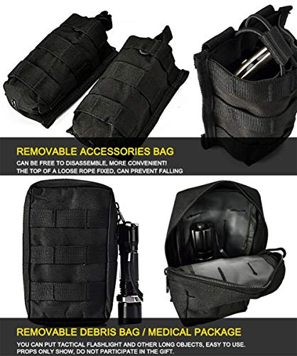 vAv YAKEDA Airsoft Tactical Vest 6 vAv YAKEDA Tactical Vest Military Chest Rig Airsoft Swat Vest for Men