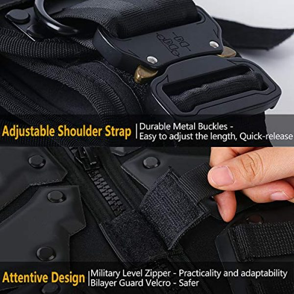 iactionunion Airsoft Tactical Vest 5 Upgrade Tactical Vest for Men with 2pcs 5.56 Fast Mag Pouch Adjustable Airsoft Paintball Vest Combat Vest Tactical Molle Vest CS Shooting Wargame Outdoor Training