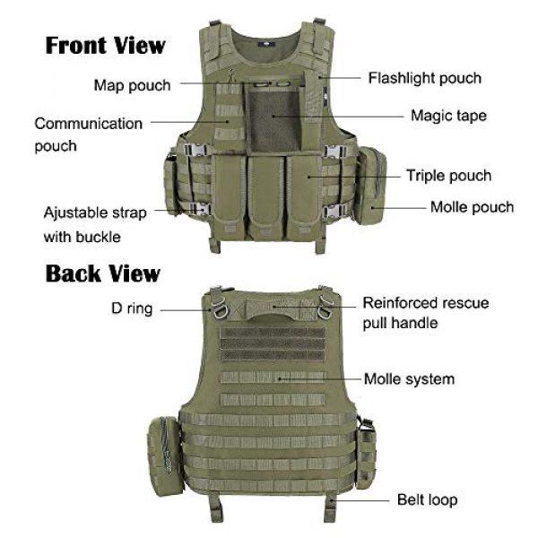MGFLASHFORCE Airsoft Tactical Vest 4 MGFLASHFORCE Tactical CS Field Vest, Airsoft Paintball Vest