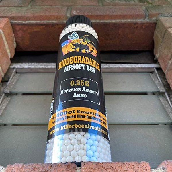 Killer Bee Airsoft Airsoft BB 4 Biodegradable Airsoft BBS 0.25g 6mm BBS 4,400 Ct Bottle. Perfect 6mm Bio BBS for Airsoft. Superior 6mm bio BBS for Airsoft Guns Airsoft Guns and Pistols.