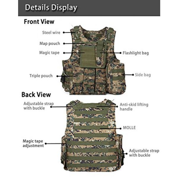 ATAIRSOFT Airsoft Tactical Vest 5 ATAIRSOFT Molle Tactical Airsoft Paintball Vest