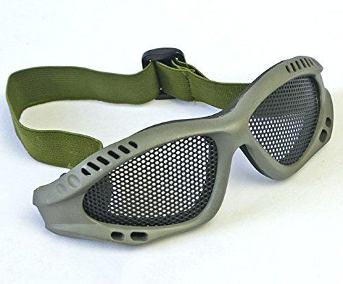 JustBBGuns Airsoft Goggle 1 JustBBGuns Airsoft Tactical Metal Mesh Adjustable Goggles