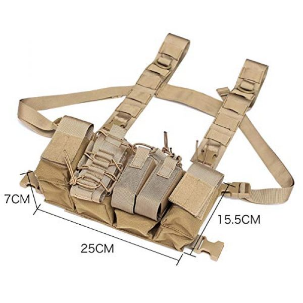 Coherny Airsoft Tactical Vest 2 Coherny Men Women Tactical Chest Rig Bag Radio Harness Chest Front Pack Pouch Holster Military Vest Chest Rig Bag Adjustable Two Way Radio Pocket Waist Pack