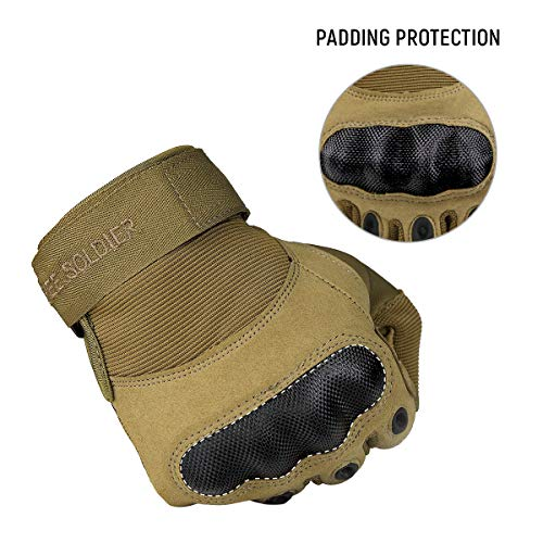 FREE SOLDIER Airsoft Glove 3 FREE SOLDIER Outdoor Full Finger Safety Heavy Duty Work Gardening Cycling Gloves