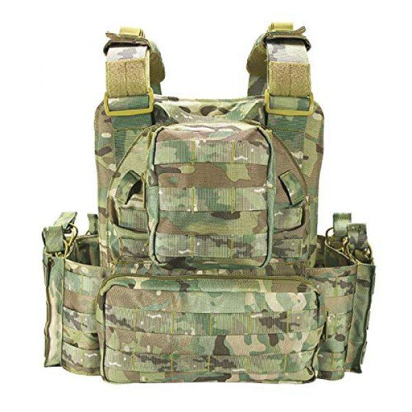 vAv YAKEDA Airsoft Tactical Vest 3 YAKEDA Tactical Vest Outdoor Ultra-Light Breathable Combat Training Vest Adjustable for Adults 600D Encryption Polyester-VT-1063