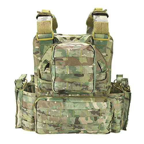 vAv YAKEDA Airsoft Tactical Vest 3 YAKEDA Tactical Vest Outdoor Ultra-Light Breathable Combat Training Vest Adjustable for Adults 600D Encryption Polyester-VT-1063