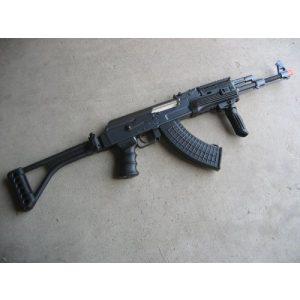 Double Eagle Airsoft Rifle 1 Double Eagle DE Ak-47S Metal Automatic Electric Airsoft Assault Gun 320FPS Black