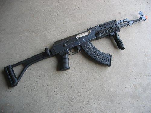 Double Eagle  1 Double Eagle DE Ak-47S Metal Automatic Electric Airsoft Assault Gun 320FPS Black
