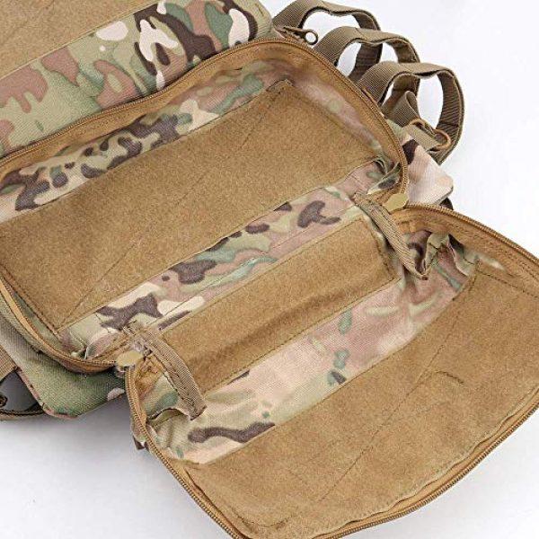 NICEFISH Airsoft Tactical Vest 3 Tactical Vest + Backpack/Modular Vest + Backpack/Breathable Combat Training Vest Adjustable Lightweight
