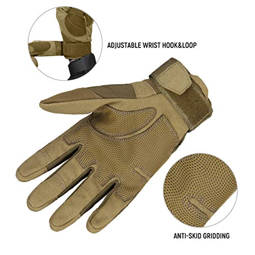 FREE SOLDIER Airsoft Glove 5 FREE SOLDIER Outdoor Full Finger Safety Heavy Duty Work Gardening Cycling Gloves
