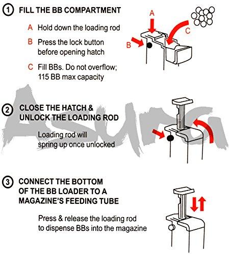 Asura Airsoft BB Loader 3 Asura Airsoft 6mm BB Speed Loader, Pack of 2