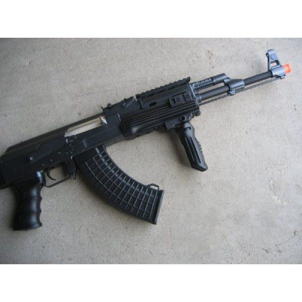 Double Eagle Airsoft Rifle 2 Double Eagle DE Ak-47S Metal Automatic Electric Airsoft Assault Gun 320FPS Black