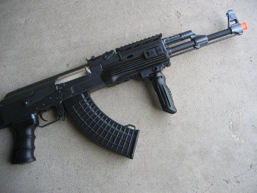 Double Eagle  2 Double Eagle DE Ak-47S Metal Automatic Electric Airsoft Assault Gun 320FPS Black