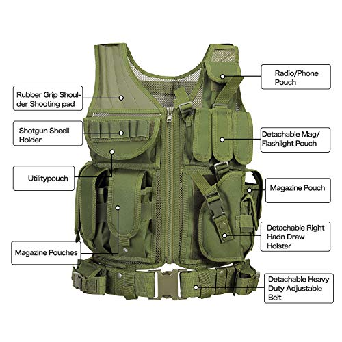 GZ XINXING Airsoft Tactical Vest 4 GZ XINXING S - 4XL Law Enforcement Tactical Airsoft Paintball Vest