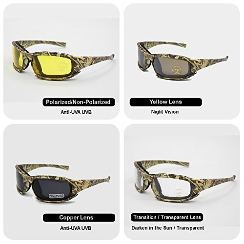 EnzoDate Airsoft Goggle 3 EnzoDate Daisy x7 Polarized Outdoor Tactical Sunglasses Windproof Military 4 Lens Kit Tactical Goggles
