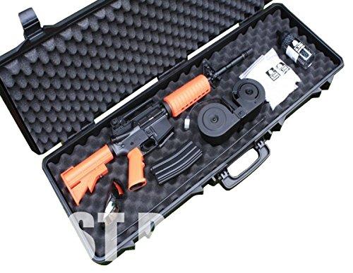 A&N Airsoft Gun Case 2 A&N SRC Airsoft Rifle Gun Foam Padded Plastic Carrying Gun Case Black