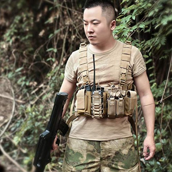 Coherny Airsoft Tactical Vest 7 Coherny Men Women Tactical Chest Rig Bag Radio Harness Chest Front Pack Pouch Holster Military Vest Chest Rig Bag Adjustable Two Way Radio Pocket Waist Pack