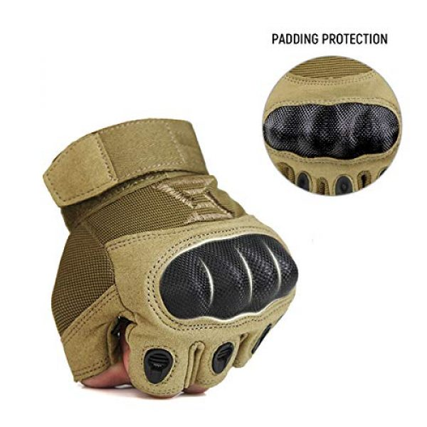 FREE SOLDIER Airsoft Glove 4 FREE SOLDIER Outdoor Half Finger Safety Heavy Duty Work Gardening Cycling Gloves