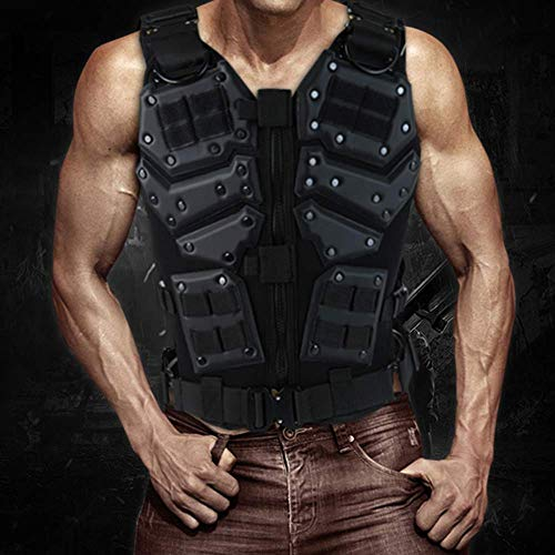 Armiya Airsoft Tactical Vest 7 Mens Molle Tactical Military Chest Rig Law Enforcement Work Vest Combat Condor Security Training Tool Pouch for Outdoor Paintball CS Game Airsoft Climbing Hiking