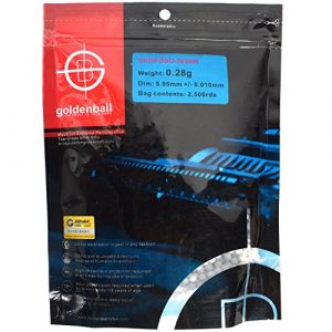 Golden Ball USA Airsoft BB 1 Airsoft .28g BBs 2500 6mm White Golden Ball GB5028W bag