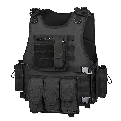 GZ XINXING Airsoft Tactical Vest 2 GZ XINXING Black Tactical Airsoft Paintball Vest