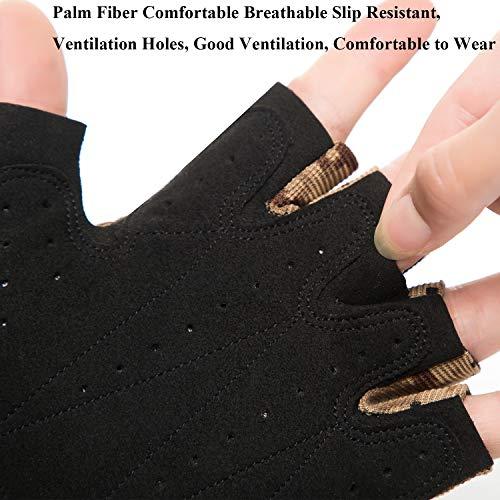 POPUGLOVE Airsoft Glove 2 Fingerless Gloves Men