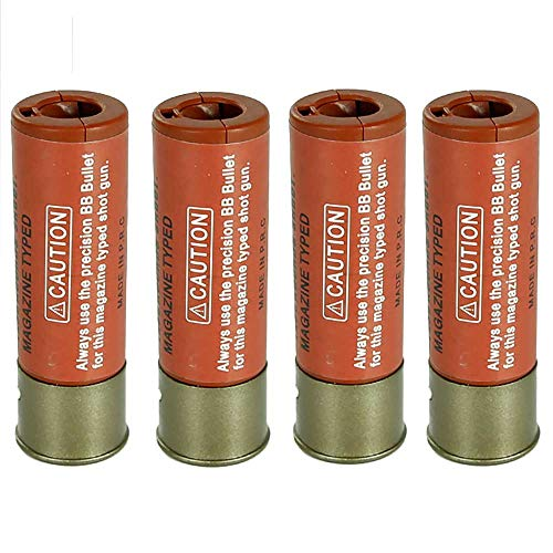 ActionUnion Airsoft Tool 1 ActionUnion 30 Rounds BB Holding Shells Airsoft Shotgun Shells Ultra Realism Model 4pcs Shells for 6mm BB Airsoft