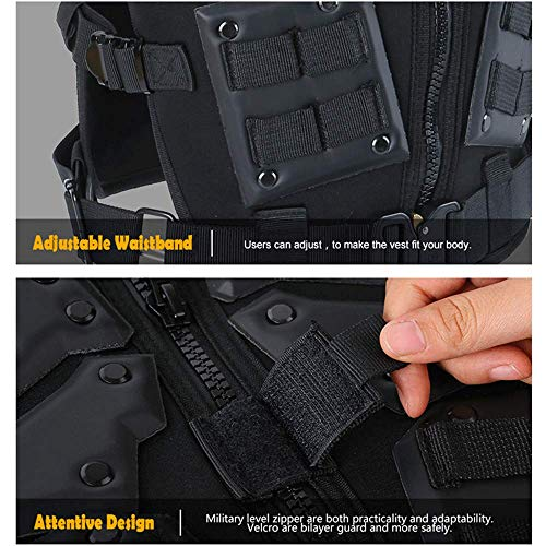 ActionUnion  6 ActionUnion Airsoft Tactical Vest Military Costume Molle Chest Protectors Gilet Paintball Vest CS Field Outdoor Modular Combat Training Adults Men Special Forces Adjustable EVA