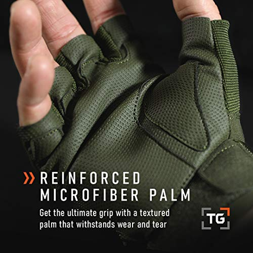 TG Airsoft Glove 8 TG Hellfox Fingerless Tactical Gloves for Men Hard Knuckle for Military Police Combat Motorcycle Outdoors Camping Cycling Paintball