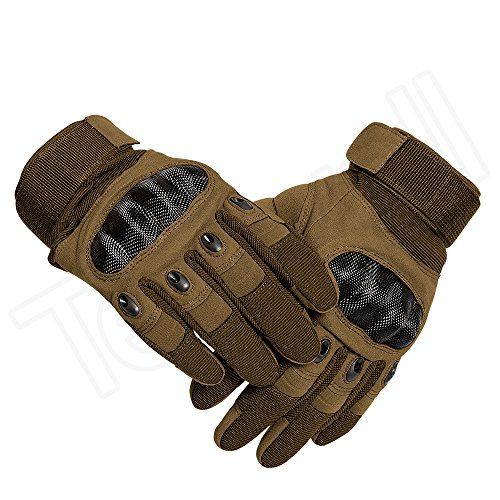Tenwell Airsoft Glove 5 Tenwell Tactical Gloves Military Rubber Hard Knuckle Full Finger Outdoor Gloves for Men Fit for Cycling Motorcycle Camping Outdoor Sports