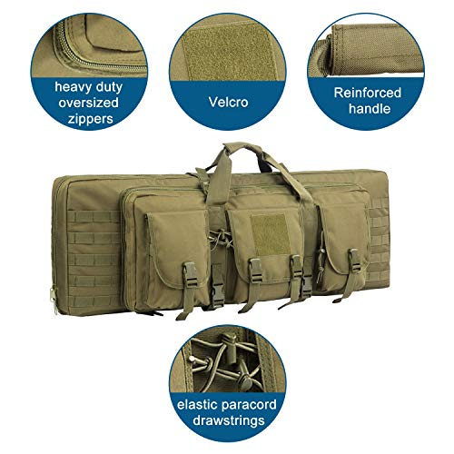 Fox Tactical  2 Fox Tactical 38 42 Inch Double Long Rifle Gun Case Bag Outdoor Tactical Carbine Cases Water Dust Resistant Fireproof for Hunting Shooting
