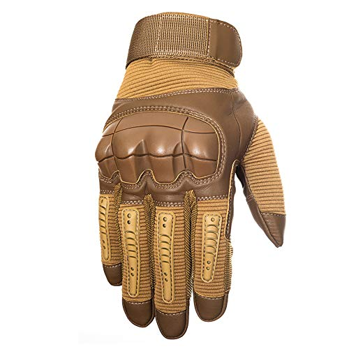 YUNLONG Airsoft Glove 2 YUNLONG Tactical Gloves Touch Screen Motorcycle Full Finger Cycling Motorbike ATV Hunting Hiking Riding Climbing Operating Work Sports Gloves