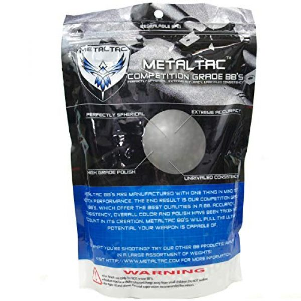 MetalTac Airsoft BB 2 MetalTac Airsoft BBS 5000 Rounds BB 0.2g Polished Perfect Grade Top Competition