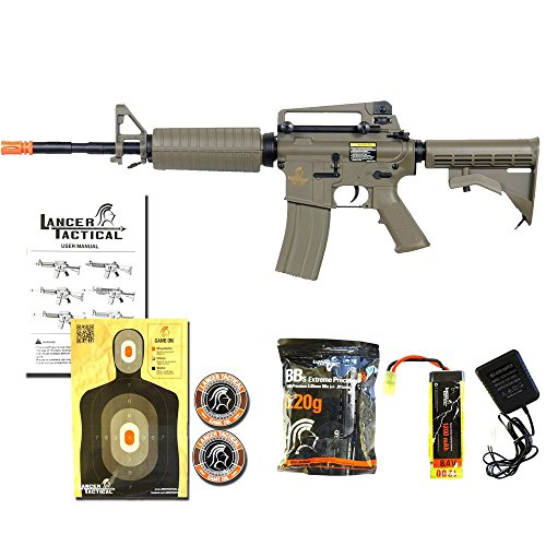 Lancer Tactical  3 Lancer Tactical LT-06T M4A1 Airsoft Electric Gun Metal Gear FPS-400 - Dark Earth